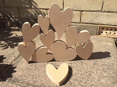 Stacking Pack of Hearts
