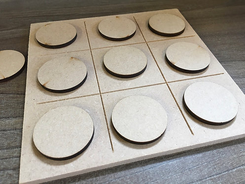 Engraved Tic Tac Toe Game Boards