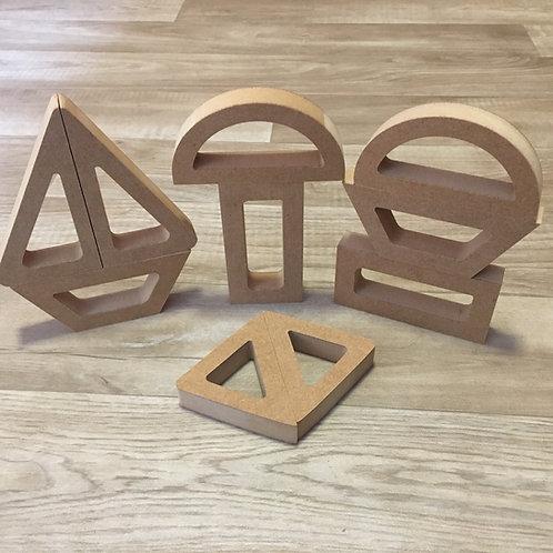 Hollow Basic Shape HALVES (Set of 10 Pieces)