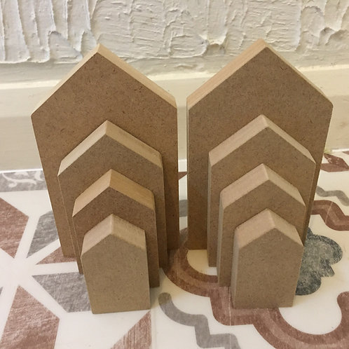 Solid House Shapes -Various Options