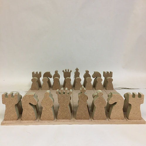 Chess Set - Engraved Gaming Board
