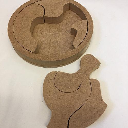 15cm 6 Piece Puzzle Circle