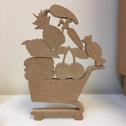 Stacking Mini food / Shopping cart set