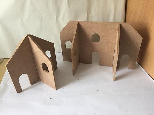 6mm 3D Peg Doll Houses