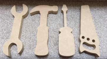 Pack of 4 Tool shapes