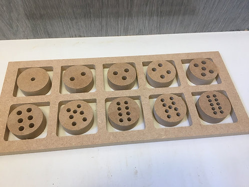 Number Buttons - With 10 Frame