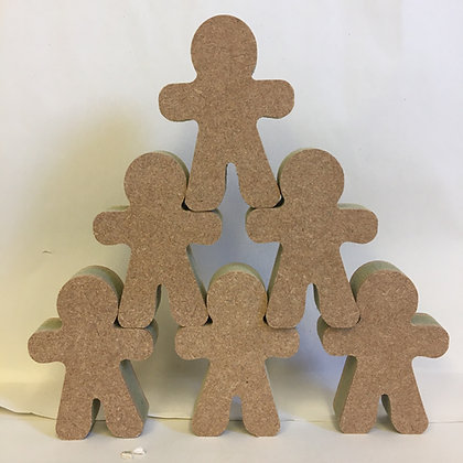 Stacking Gingerbread Figures (Packs)