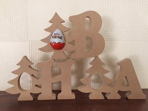Christmas Tree Kinder Letters
