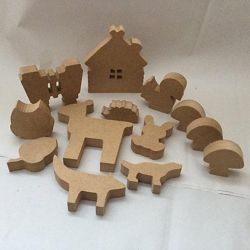 Mini Set Woodland Shapes