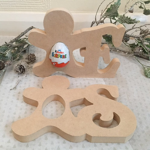 Gingerbread Kinder Letters