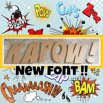 KAPOW ! Font Wall Letters (6mm or 18mm)