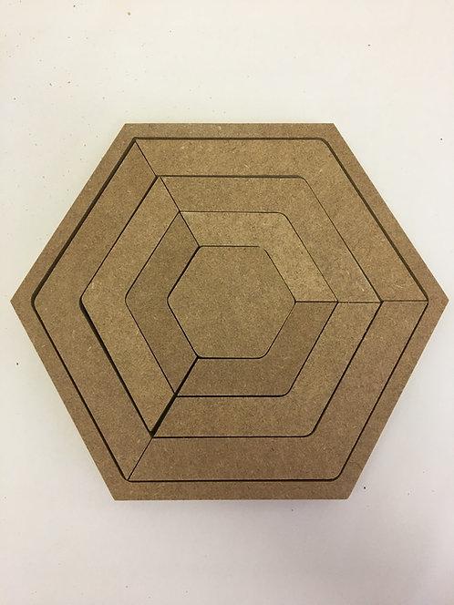 22cm Nesting Hexagon Strips