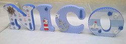 Nautical themed letters