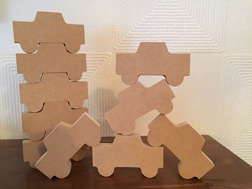 Stacking Cars (Packs of 5 or 10)
