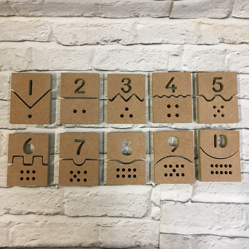 Number Matching Puzzle Pieces