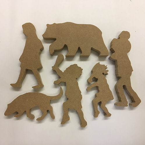 Going on a bear hunt Character Set