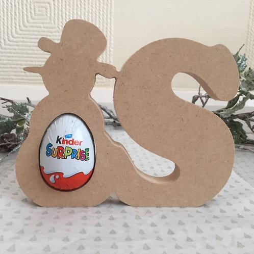 Snowman Kinder Letter