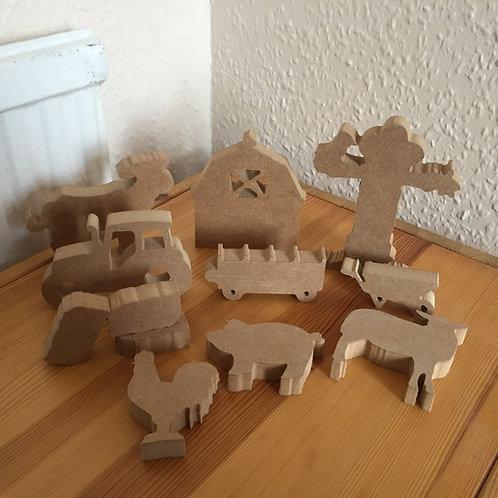 Mini set Farm Shapes