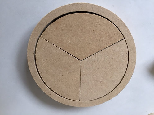 Chunky Fraction Circles 12cm