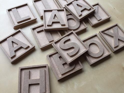 3D Letter blocks