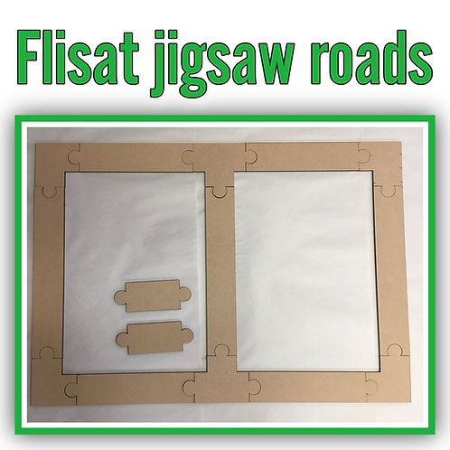 Flisat Jigsaw Puzzle Road sets