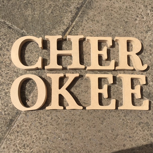 Cherokee Font Letters (Various Options)