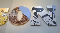 Hand Painted Star Wars letters