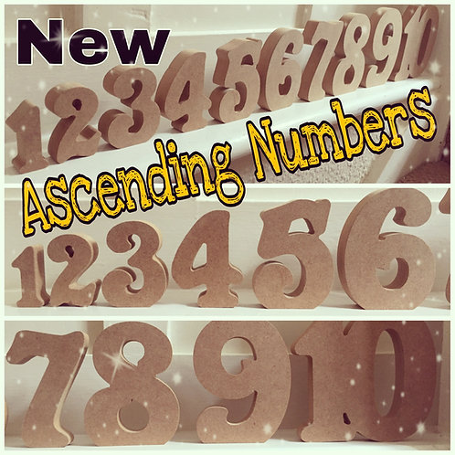 Ascending Set of 10 Numbers