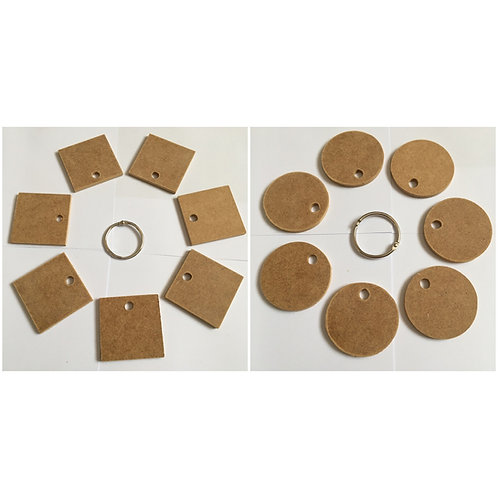 Keyring Sets - Circles or Squares