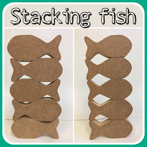 Stacking Fish (Packs of 5 or 10)