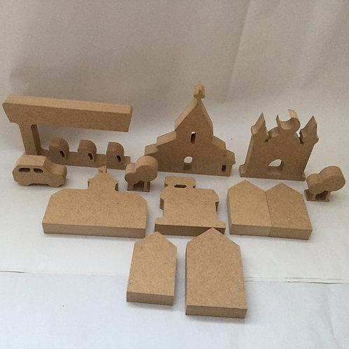 Mini Set Village/Town Shapes