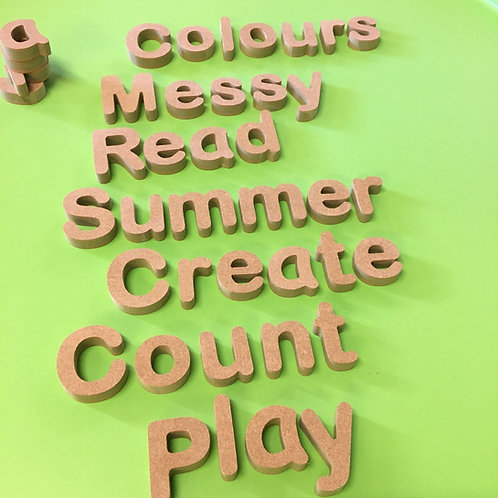 Play and Learn Words - Chunky 7cm (18mm)
