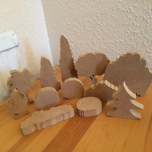 Mini set Trees and Bushes