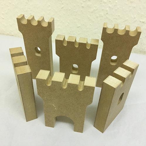 Castle Free Standing Pieces (7 Set)