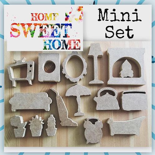 Mini set Home Sweet Home Shapes