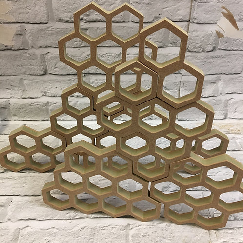 Honeycomb Hollow Counting Frames