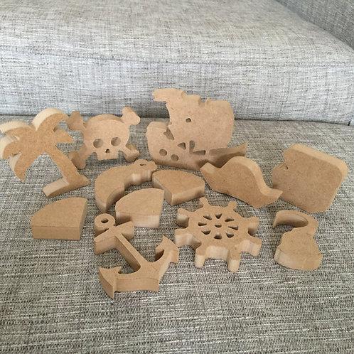 Mini Set PIRATE Shapes
