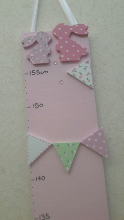 Bunny Bunting Height Chart