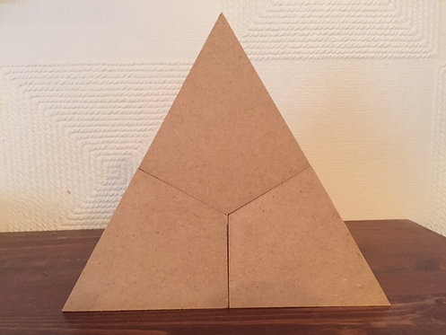 3 Part Geo Triangle (15cm tall)