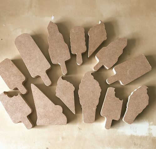 Mini set Lollies and Ice-Cream Shapes