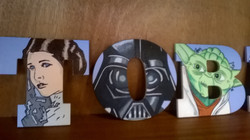 More Hand Painted Star Wars letters