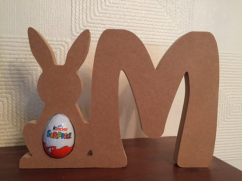 Easter Bunny Egg Holder with Letter
