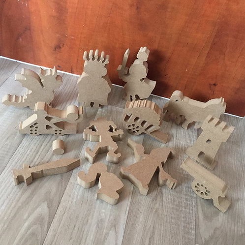 Mini set Medieval Knights Shapes