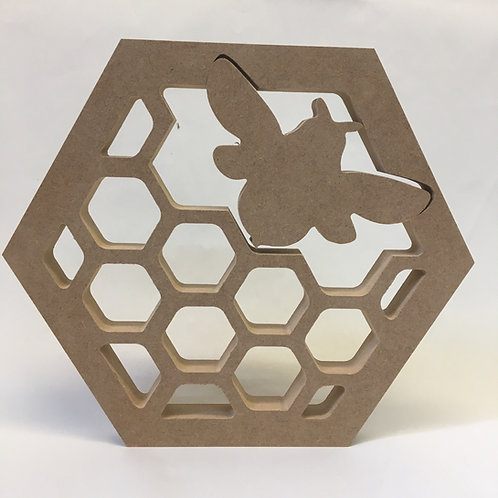 Hollow HoneyComb Hexagon with bee