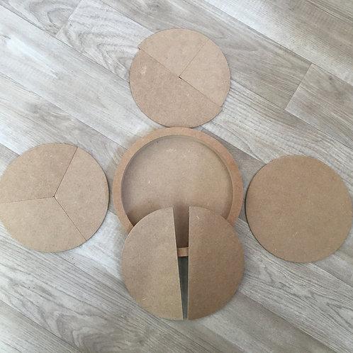 Fraction Nesting Discs Set