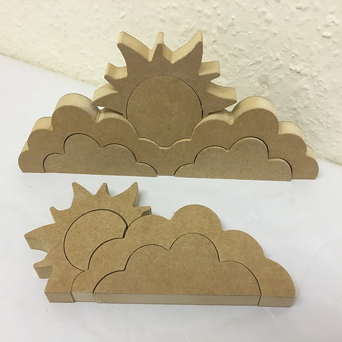 Stacking Sun / Cloud Sets Free Standing