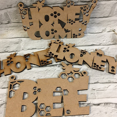 Bee - Honey Hanging Words
