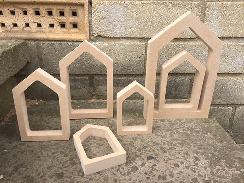 Hollow Peg Doll Houses