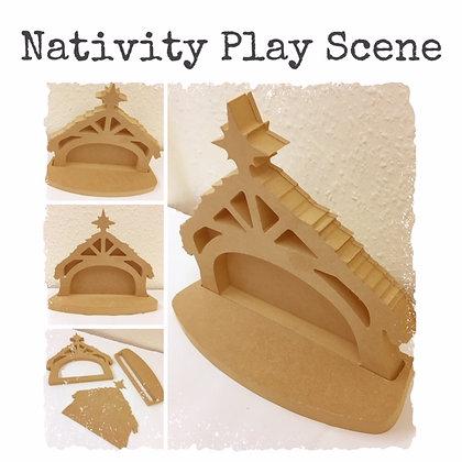 Nativity Play Scene Set / Stage