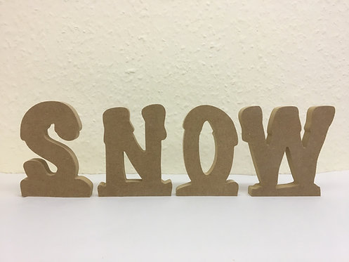 Snowy font letters 13cm (Priced PER Letter)